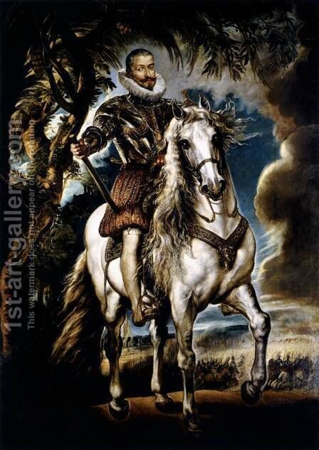Duke of Lerma c. 1603 by Rubens - Reproduction Oil Painting