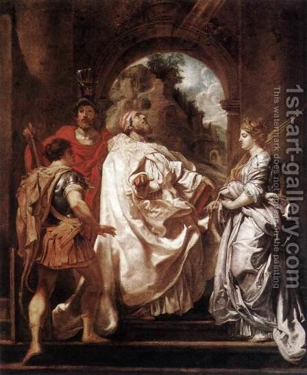 St Gregory the Great with Saints 1606 by Rubens - Reproduction Oil Painting