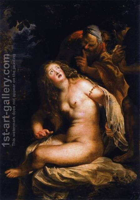 Susanna and the Elders 1607-08 by Rubens - Reproduction Oil Painting