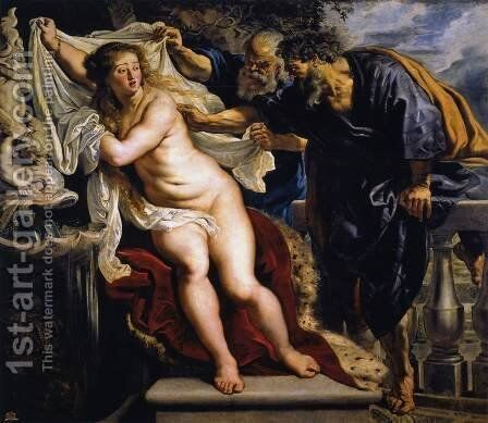 Susanna and the Elders 1609-10 by Rubens - Reproduction Oil Painting