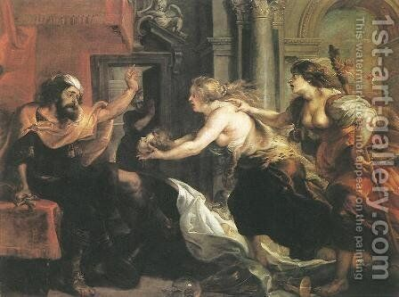 Tereus Confronted with the Head of his Son Itylus 1636-38 by Rubens - Reproduction Oil Painting