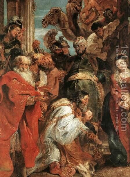 The Adoration of the Magi (detail-1) 1624 by Rubens - Reproduction Oil Painting