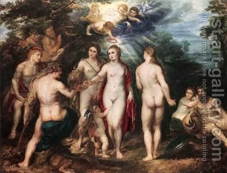 The Judgment of Paris c. 1625 by Rubens - Reproduction Oil Painting
