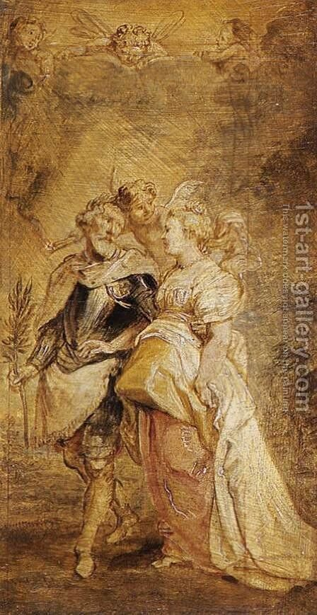 The Marriage of Henri IV of France and Marie de Medicis 1628-30 by Rubens - Reproduction Oil Painting