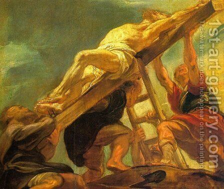 The Raising of the Cross 1620-21 by Rubens - Reproduction Oil Painting