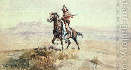 Red Man of the Plains 1901 by Charles Marion Russell - Reproduction Oil Painting