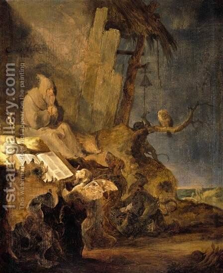 The Temptation of St Anthony 1629 by Cornelis Saftleven - Reproduction Oil Painting