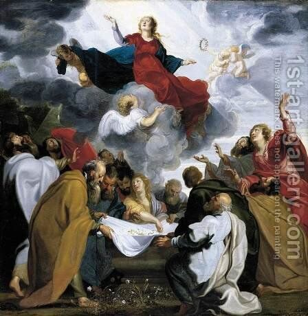 Assumption of the Virgin 1620 by Anthonis Sallaert - Reproduction Oil Painting