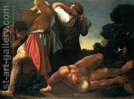 Drunkenness of Noah by Carlo Saraceni - Reproduction Oil Painting
