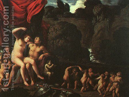 Venus and Mars 1605-10 by Carlo Saraceni - Reproduction Oil Painting