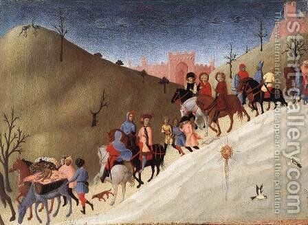 The Journey of the Magi c. 1435 by Stefano Di Giovanni Sassetta - Reproduction Oil Painting