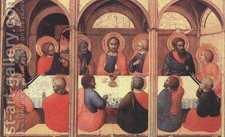 The Last Supper 1423 by Stefano Di Giovanni Sassetta - Reproduction Oil Painting