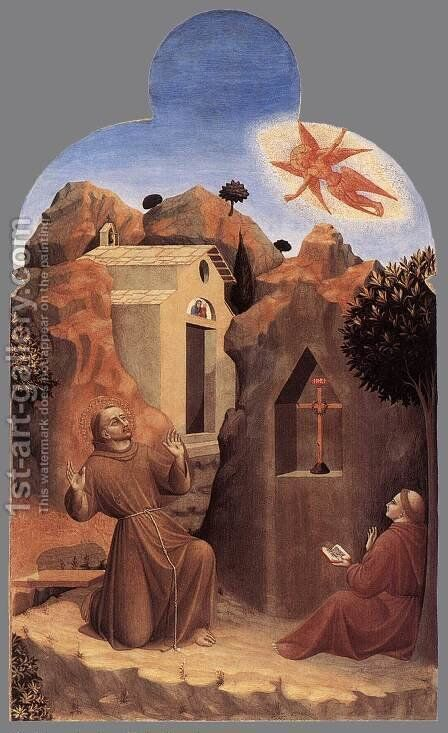 The Stigmatisation of St Francis 1437-44 by Stefano Di Giovanni Sassetta - Reproduction Oil Painting