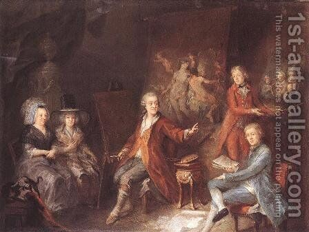 The Painter and his Family 1790 by Martin Johann Schmidt - Reproduction Oil Painting