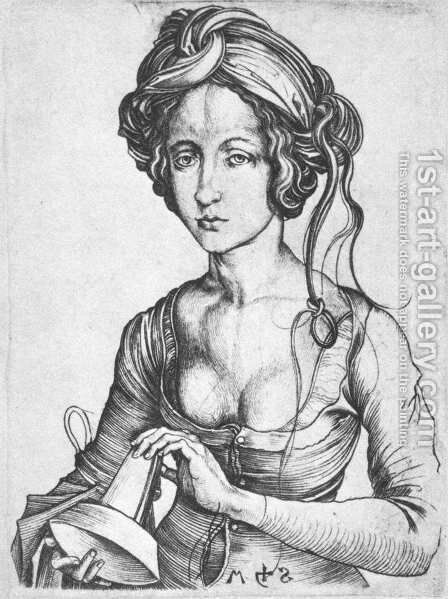 A Foolish Virgin 1480s by Martin Schongauer - Reproduction Oil Painting