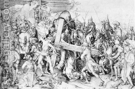 Christ Carrying the Cross 1475-80 by Martin Schongauer - Reproduction Oil Painting