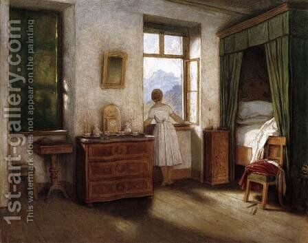 Early Morning 1858 by Moritz Ludwig von Schwind - Reproduction Oil Painting