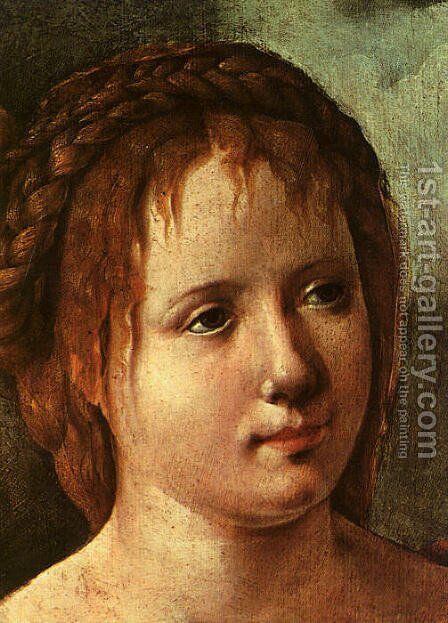 Head of a Young Girl by Jan Van Scorel - Reproduction Oil Painting