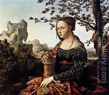 Mary Magdalene c. 1528 by Jan Van Scorel - Reproduction Oil Painting