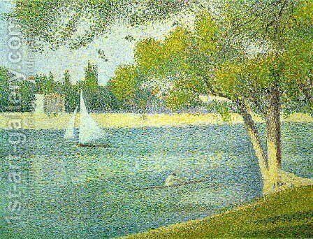 The Siene at la Grande Jatte 1888 by Georges Seurat - Reproduction Oil Painting