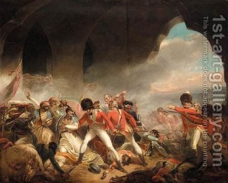 The Last Effort and Fall of Tippoo Sultan c. 1800 by Henry Singleton - Reproduction Oil Painting