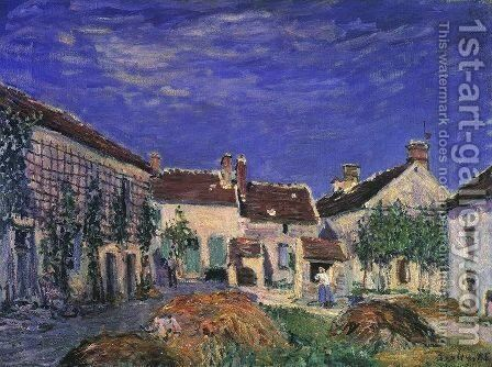 A Farmyard near Sablons 1885 by Alfred Sisley - Reproduction Oil Painting