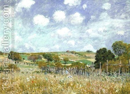 Meadow 1875 by Alfred Sisley - Reproduction Oil Painting