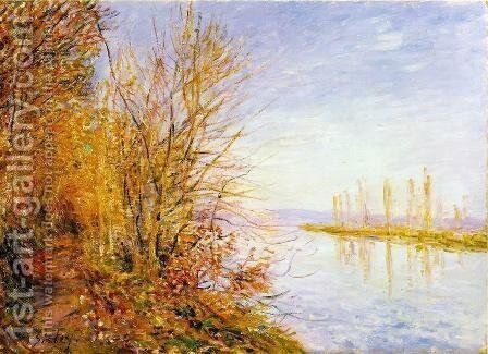The Chemin de By through Woods at Roches-Coutaut- St. Martin's Summer 1880 by Alfred Sisley - Reproduction Oil Painting