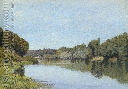 The Seine at Bougival 1873 by Alfred Sisley - Reproduction Oil Painting