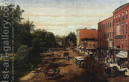 Cleveland Public Square 1869 by Allen Smith - Reproduction Oil Painting