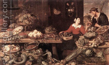 Fruit and Vegetable Stall by Frans Snyders - Reproduction Oil Painting