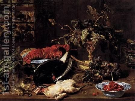 Still-life with Crab and Fruit by Frans Snyders - Reproduction Oil Painting