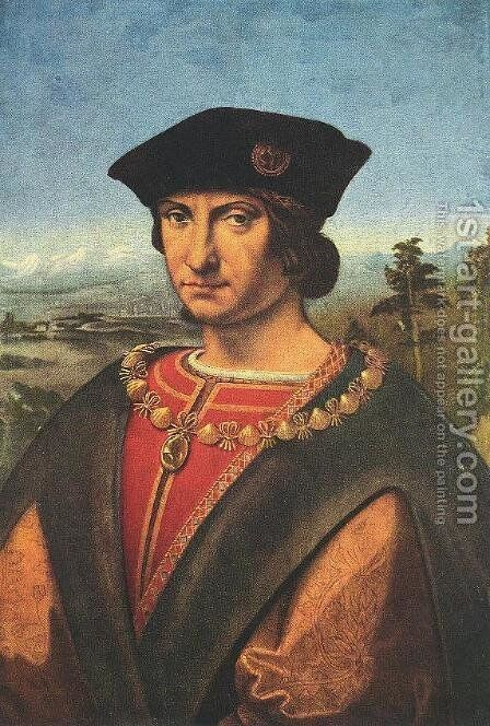 Charles d'Amboise c. 1507 by Andrea Solari - Reproduction Oil Painting