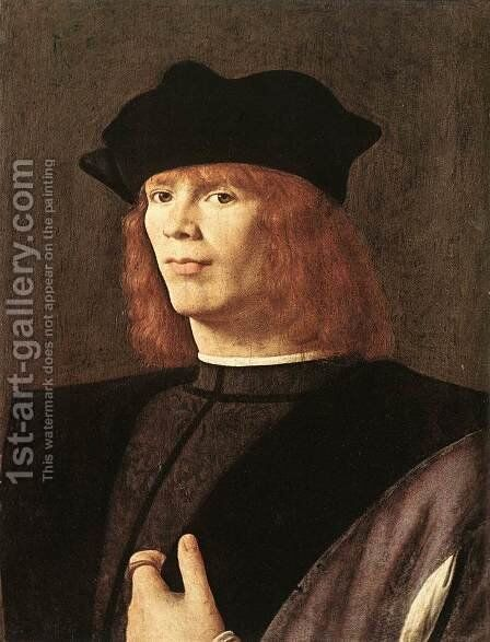 Portrait of a Man c. 1500 by Andrea Solari - Reproduction Oil Painting