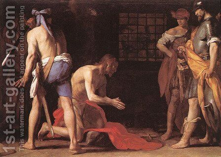 Beheading of St John the Baptist c. 1634 by Massimo Stanzione - Reproduction Oil Painting