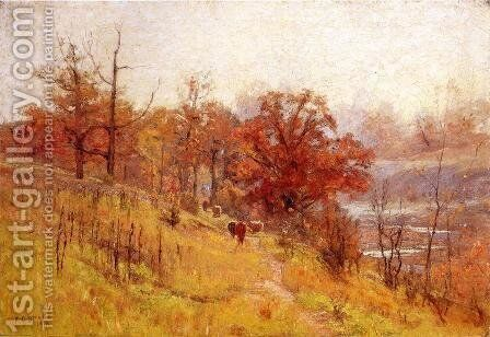 November's Harmony 1893 by Theodore Clement Steele - Reproduction Oil Painting