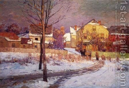 Tinker Place 1891 by Theodore Clement Steele - Reproduction Oil Painting