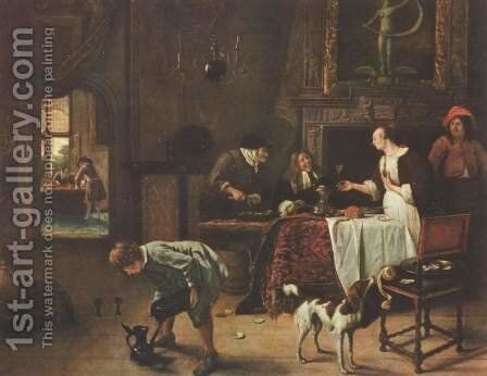 Easy Come, Easy Go  1661 by Jan Steen - Reproduction Oil Painting