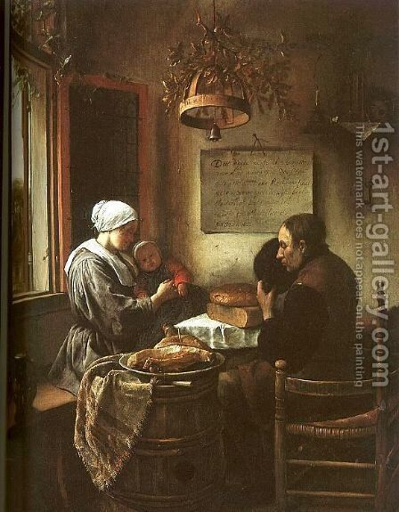 Grace Before a Meal  1660 by Jan Steen - Reproduction Oil Painting