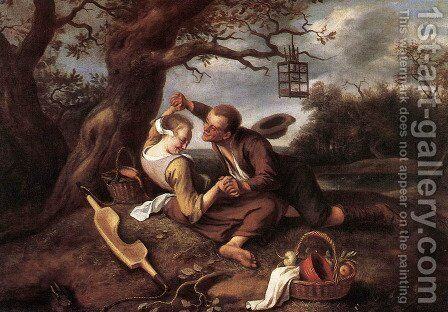 Merry Couple by Jan Steen - Reproduction Oil Painting