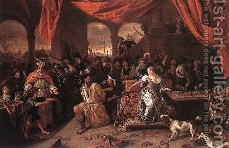 Samson and Delilah 1667-70 by Jan Steen - Reproduction Oil Painting