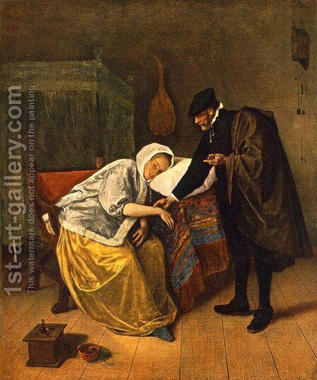 The Doctor and His Patient by Jan Steen - Reproduction Oil Painting