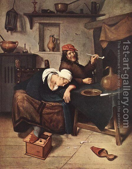 The Drinker c. 1660 by Jan Steen - Reproduction Oil Painting