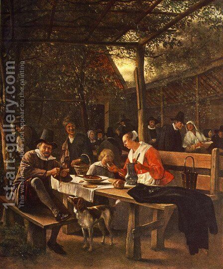 The Picnic by Jan Steen - Reproduction Oil Painting