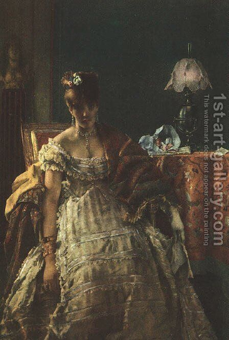 The Desperate Woman by Alfred Stevens - Reproduction Oil Painting
