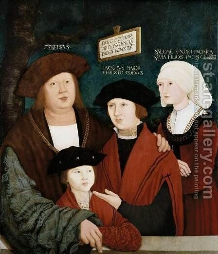 Portrait of the Cuspinian Family 1520 by Bernhard Strigel - Reproduction Oil Painting