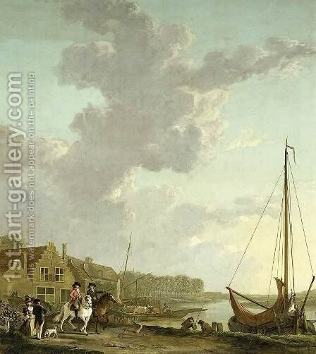 An Extensive River Landscape by Abraham van, I Strij - Reproduction Oil Painting