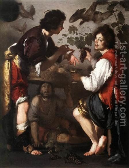Joseph Telling his Dreams 1626 by Bernardo Strozzi - Reproduction Oil Painting