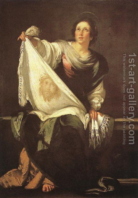 St Veronica 1625-30 by Bernardo Strozzi - Reproduction Oil Painting