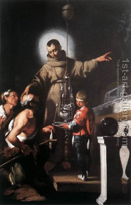 The Miracle of St Diego of Alcantara 1625 by Bernardo Strozzi - Reproduction Oil Painting